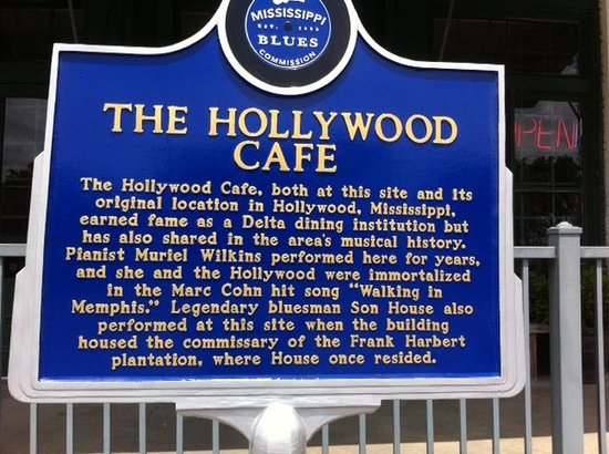 Hollywood Cafe: History plaque