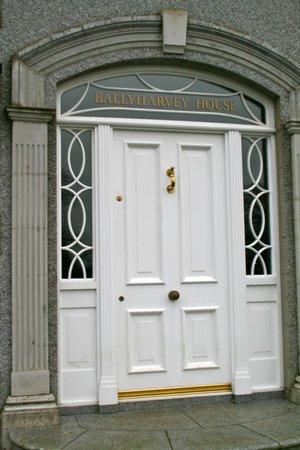 Ballyharvey House B&B: Front entrance door