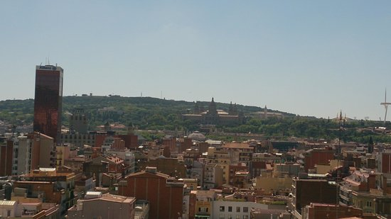 Expo Hotel Barcelona: view from the roof top terrace