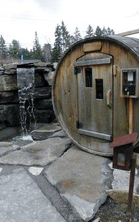 Auberge & Spa Beaux Reves : Un des sauna sec