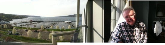 Watkins Glen Harbor Hotel: view from our window seat