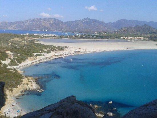 Porto Giunco : Vista dei tre mari...