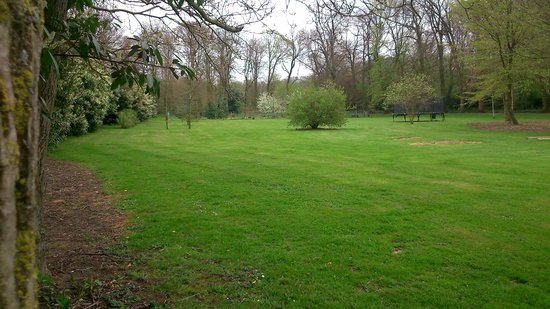 Les Charmilles: Vue des chambres sur un parc arboré de 12 ha