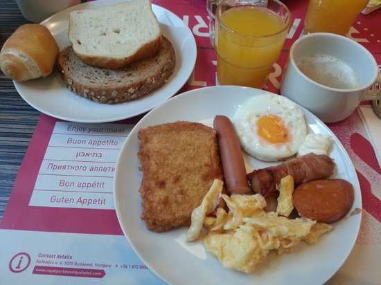 Royal Park Boutique Hotel : Breakfast dishes