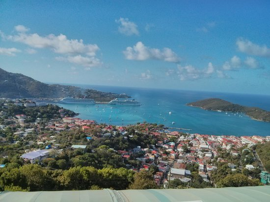 Mafolie Hotel : the view of Charlotte Amalie from our balcony