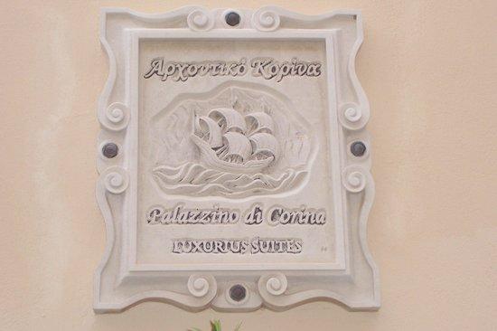 Palazzino di Corina: Hotal/ Restaurant name plaque
