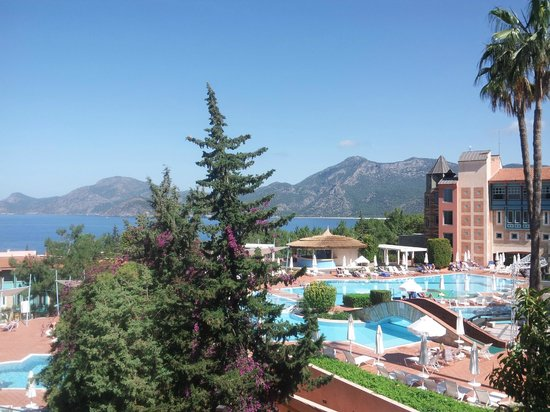 Liberty Hotels Lykia: view from sentido of the resort and olu deniz in the background