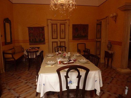 Palazzo del Capitolo : la sala della colazione