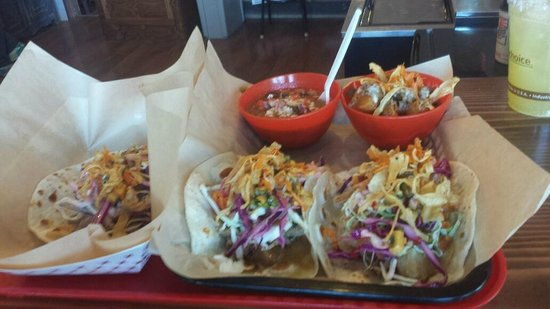 Taco Del Gnar: Sweet and Sour pulled pork taco special.