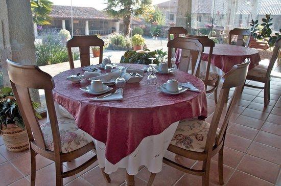 Casa de Maside: Restaurante en la galería acristalada
