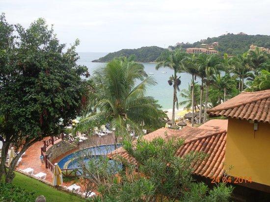 La Boheme Hotel e Apart Hotel : Puede verse desde la hab. la piscina, el restaurante y la playa