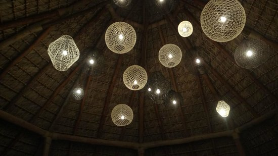Zoetry Agua Punta Cana: Lighting Over The Outdoor Dining Area
