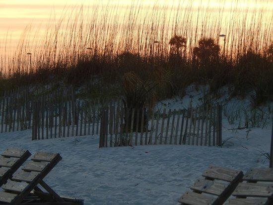 Margaritaville Beach Hotel: Sunset over the dunes