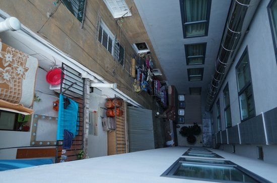 Hotel Denit Barcelona: view out the one window