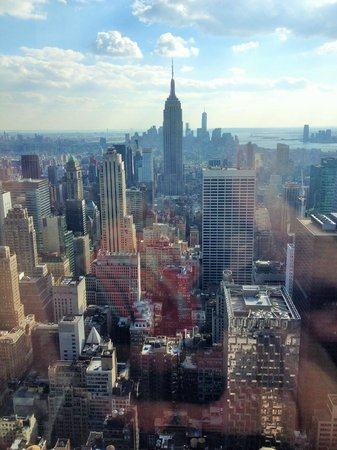 Manhattan Skyline : Midtown Manhattn (Empire State Building) from Top of the Rock