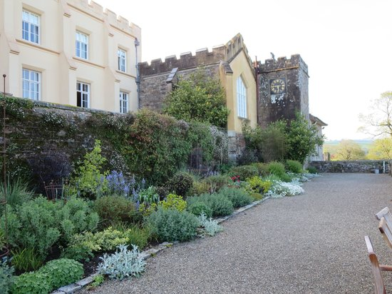 Pentillie Castle: Garden and clock tower
