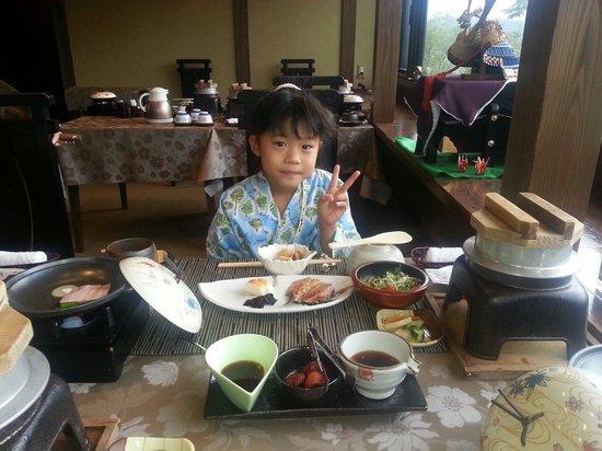 Yufuin Kaze no Mori : 朝食いただきます
