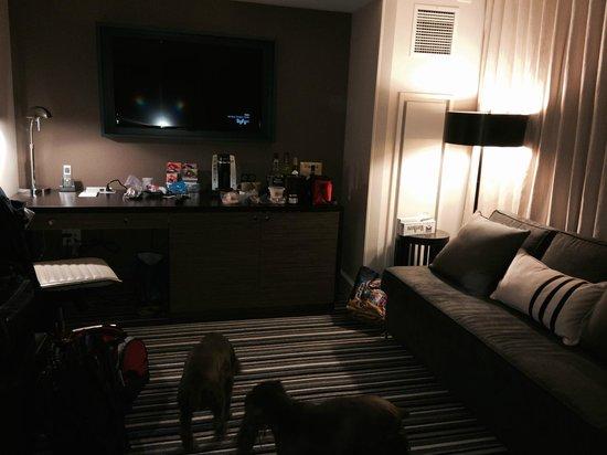 The Kimpton George Hotel: Sitting Area in Queen Suite