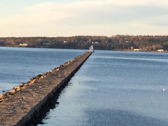 Rockland Breakwater Light: looking down from the Samoset