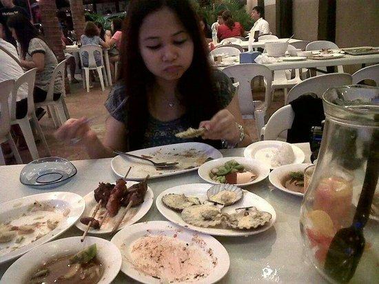 AA BBQ: Me enjoying the food!!!
