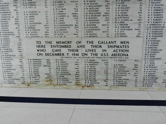 Pearl Harbor : Memorial Wall