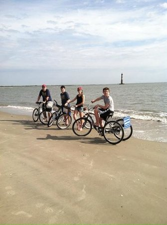 Charleston Adventure Tours: biking the beach