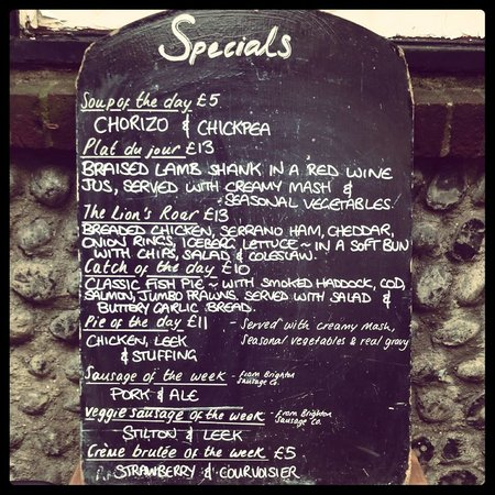 Black Lion: An example of our specials