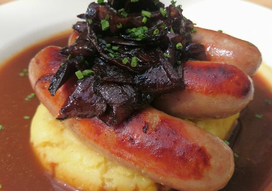 Black Lion: Sausage and mash with our award-winning sausages