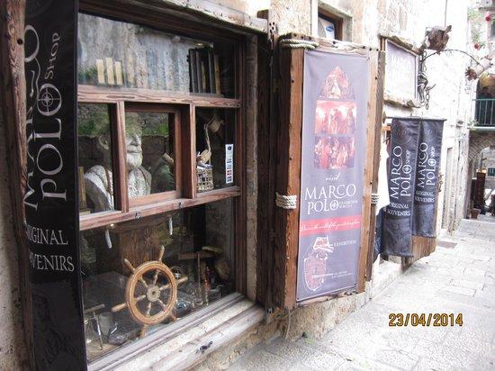 Korcula Old City: Marco Polo souvenir shop