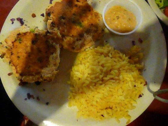 Mert's Heart & Soul : Mert's Famous Salmon cakes with Rice