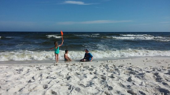 The Pearl of Navarre Beach: Fun in the surf!