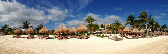 Excellence Playa Mujeres : Beach panoramic