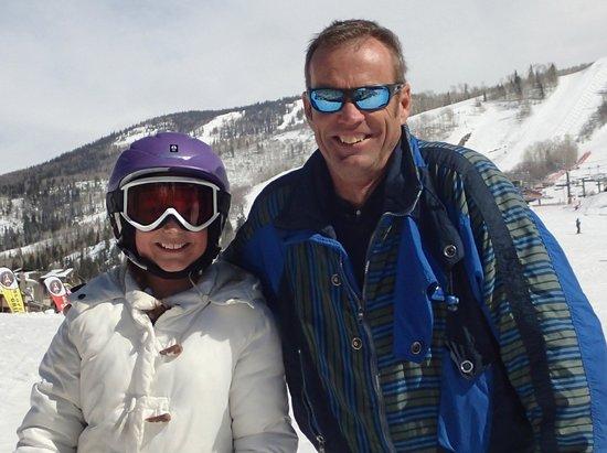 Steamboat Ski Resort: Kadiya's 1st Blue Run….