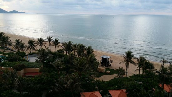 The Grand Ho Tram Strip: View from hotel room (sea view)