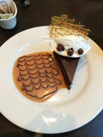 Wild Sage American Bistro: Incredible chocolate hazelnut torte, to finish off the evening.