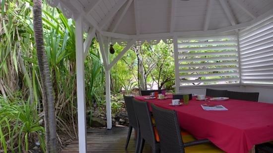 Salines Garden Cottages : Breakfast Area