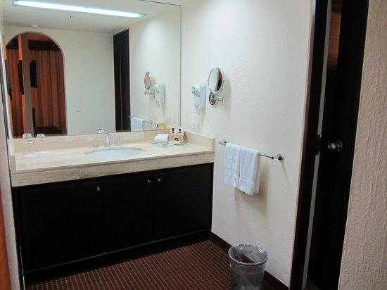 Casa Andina Premium Miraflores: The vanity - the mini-bar was under the sink