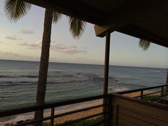 Koa Kea Hotel & Resort: Sunset view from my window and deck