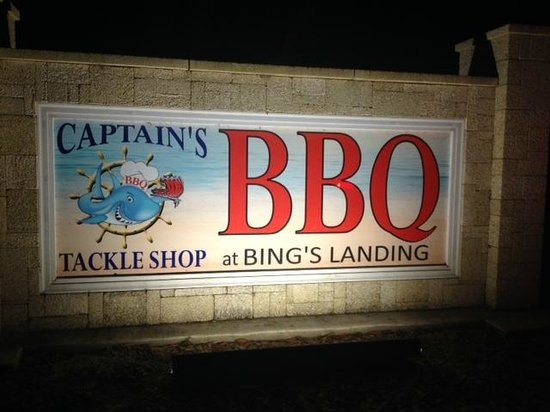 Captain's BBQ : Road Sign
