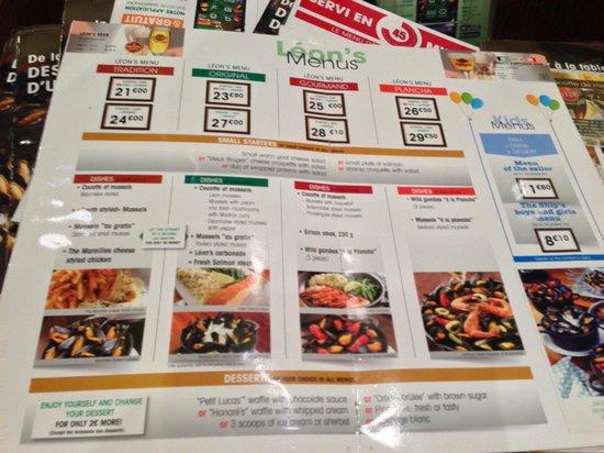 léon de bruxelles carte set menu   Picture of Leon de Bruxelles, Paris   Tripadvisor