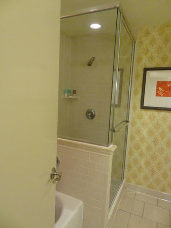 Hyatt Regency Lost Pines Resort & Spa: Separate shower / bathtub in room.