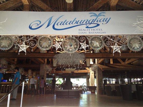 Matabungkay Beach Resort & Hotel: entrance