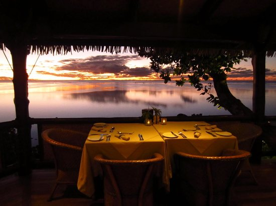 Rapae Bay Restaurant at Pacific Resort Aitutaki: stunning view