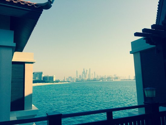 Anantara The Palm Dubai Resort: View from our water villa
