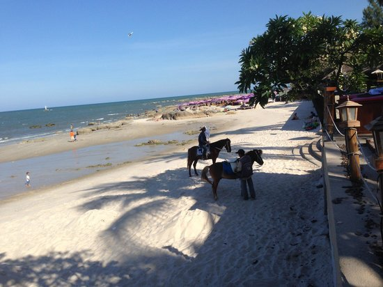 Hilton Hua Hin Resort & Spa: Beach area in front of the Hilton