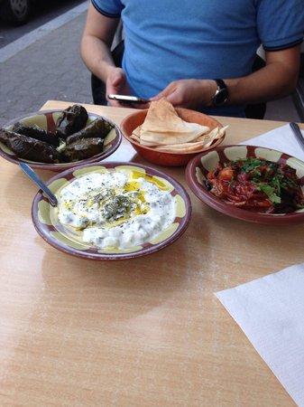 Le Tarbouche : Entrées: yaourts feuilles de vignes et moussaka