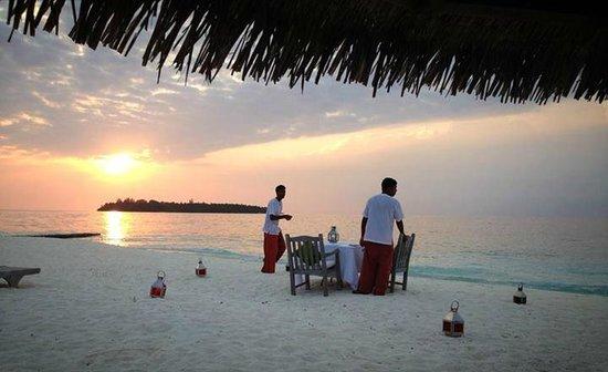Cocoa Island by COMO : dinner on the beach