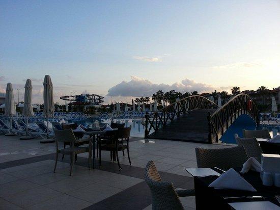 Kahya Hotel: Uitzicht eetzaal Kahya resort
