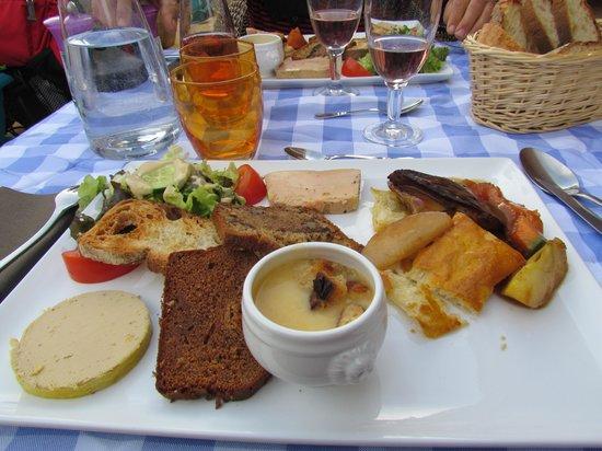 Auberge La Ferme du Brusquand : Entrée 3 foie gras