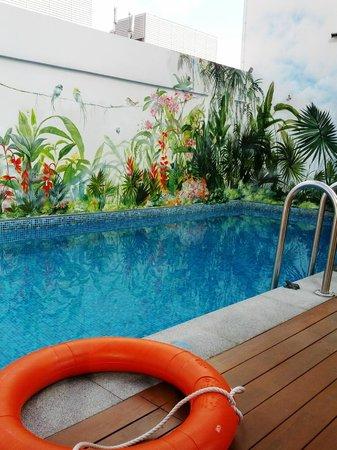 Hotel Clover 5 HongKong Street: tiny pool for a dip
